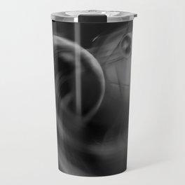 Abstract - Black and White Travel Mug