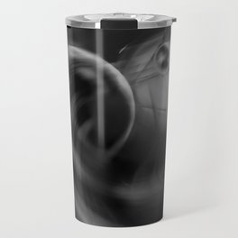 Abstract - Black and White Travel Mug