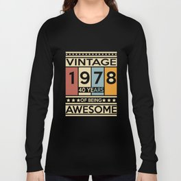 cintage 1978 40 years of being girlfriend t-shirts Long Sleeve T-shirt