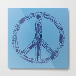 Find Peace (Blue) Metal Print