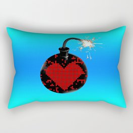 love bomb (cool) Rectangular Pillow
