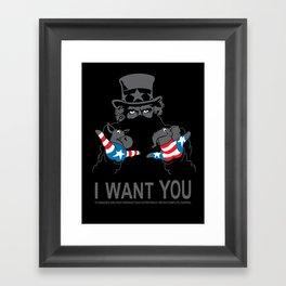 Uncle Scam Framed Art Print