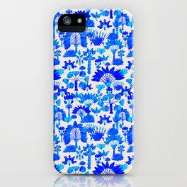 Exotic Garden Blue iPhone Case