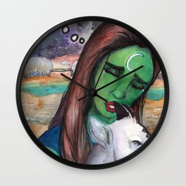 LOVE PIZZA Wall Clock