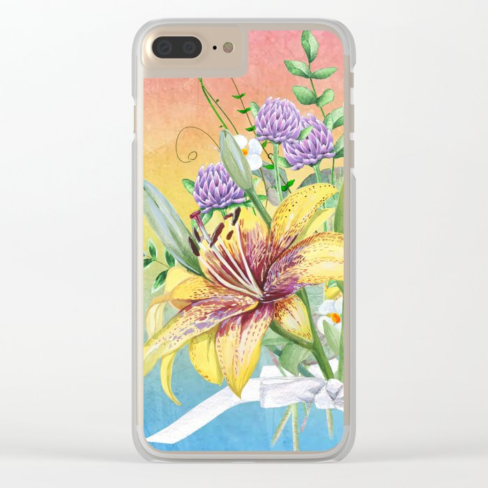 Flowers bouquet #17 Clear iPhone Case