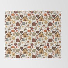 Autumn Cottage Days Throw Blanket