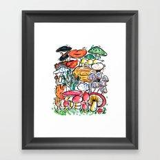 Fungi family Framed Art Print