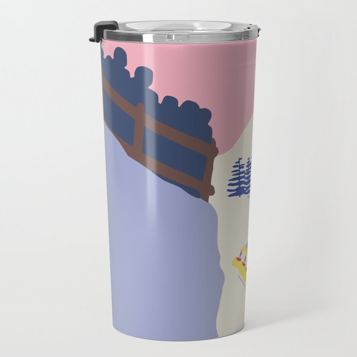 Lake Placid Olympic bobsled run Travel Mug