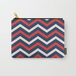 Chevron pattern nautical Carry-All Pouch