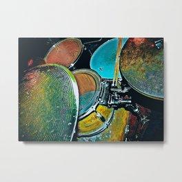 Drum Drummer Vintage Drums Metal Print