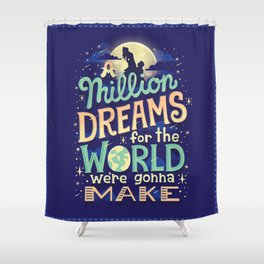 A Million Dreams Shower Curtain