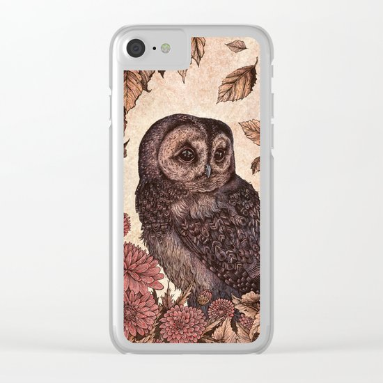 Tawny Owl Pink Clear iPhone Case