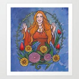 Brigid Dawn Goddess Art Print