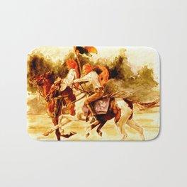 Horses and People No.1 Bath Mat
