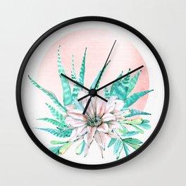 Desert Cactus Succulent Wall Clock