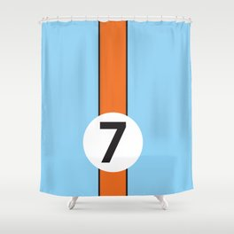 Gulf Racing Ford GT40 Le Mans 24 Hours Shower Curtain