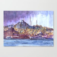 Eminönü Skyline Canvas Print