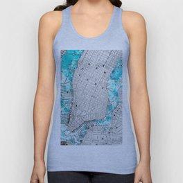 NEW YORK CITY OCEAN MAP Unisex Tank Top