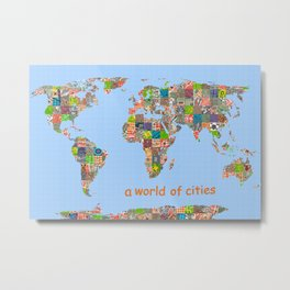 A world of cities (I) Metal Print