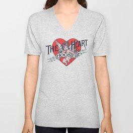 The Heart of a Hoosier Unisex V-Neck