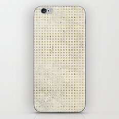 gOld squares iPhone Skin
