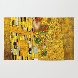 The Kiss Painting Gustav Klimt Rug