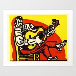 Flamenco Guitarist Lino Art Print