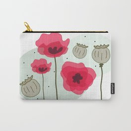 poppy flowers Carry-All Pouch