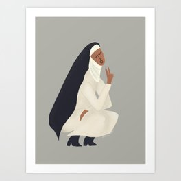 Spring Nun 2 Art Print