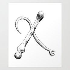 Hook & Bone Art Print