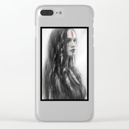 War Feathers Clear iPhone Case