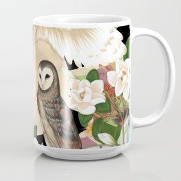 Owls + Moths Coffee Mug
