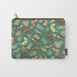 Gecko family in green Carry-All Pouch