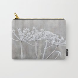 cow parsley plant  with hoarfrost in winter Carry-All Pouch