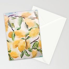 Watercolor Lemons Stationery Cards