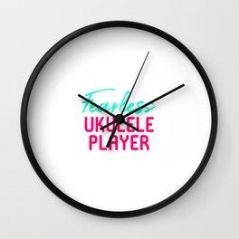 Fearless Ukulele Player Strumming Through Life Ukelele Music Wall Clock