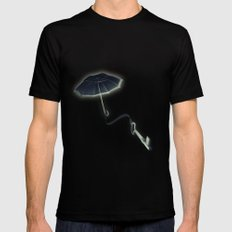 Hope Floats Away MEDIUM Black Mens Fitted Tee