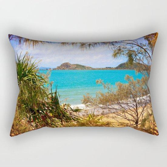 Idyllic Coastal View Rectangular Pillow