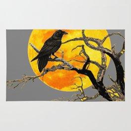 FULL MOON & RAVEN ON DEAD TREE Rug