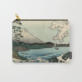Hiroshige - 36 Views of Mount Fuji (1858) - 23: The Sea off Satta in Suruga Province Carry-All Pouch