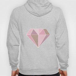 Shades of rose gold diamond Hoody