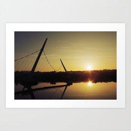 Peace Bridge, Derry  Art Print