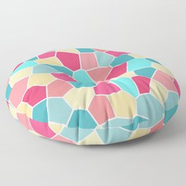 Mosaic Pattern - Bubble gum Floor Pillow