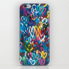 Graffiti Hearts Love (Color) iPhone Skin