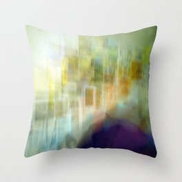 Blurred Boundaries Throw Pillow