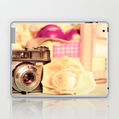 Film Camera and Rose (Retro and Vintage Still Life Photography)  Laptop & iPad Skin