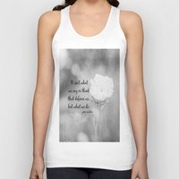 jane austen Tank Tops featuring Jane Austen Quote What We Do by KimberosePhotography