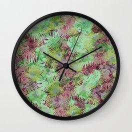 Seamless Pattern of Tropical Leaves II Wall Clock