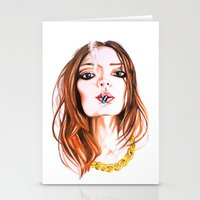 cigarette Stationery Cards featuring E Cigarette  by Liz Slome