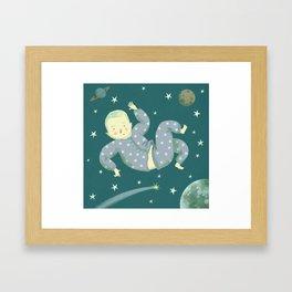 Falling through Space Framed Art Print